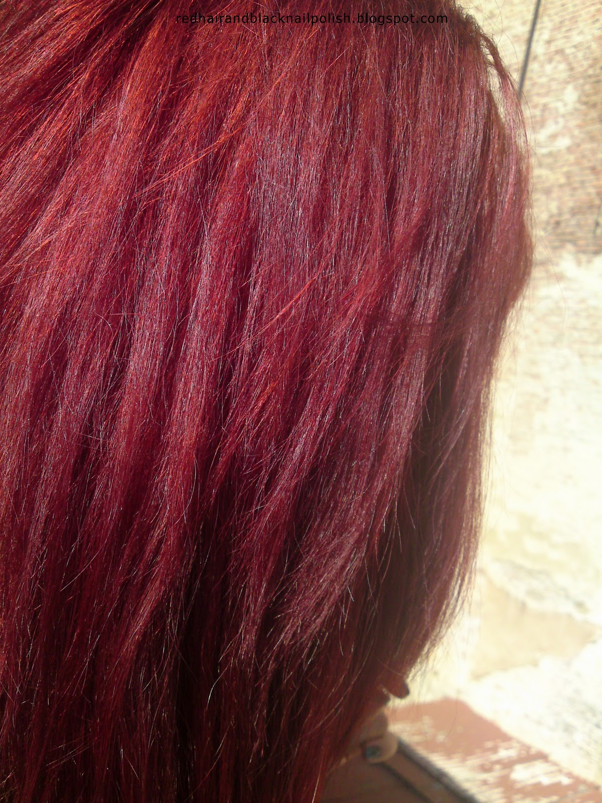 Red Hair Color Swatches Red hair and black nail