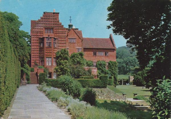Gordon Fraser postcard showing Chartwell house and terrace from the south
