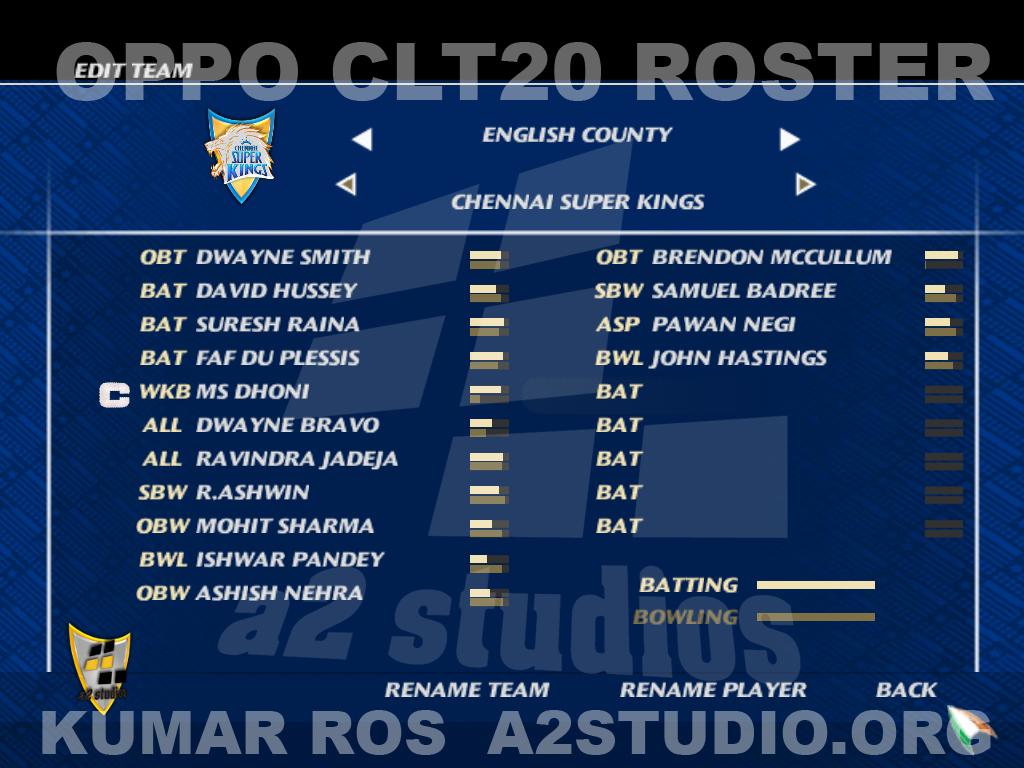 a2studios clt20 squad panel
