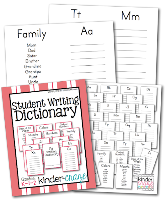 Student Writing Dictionary for Early El students