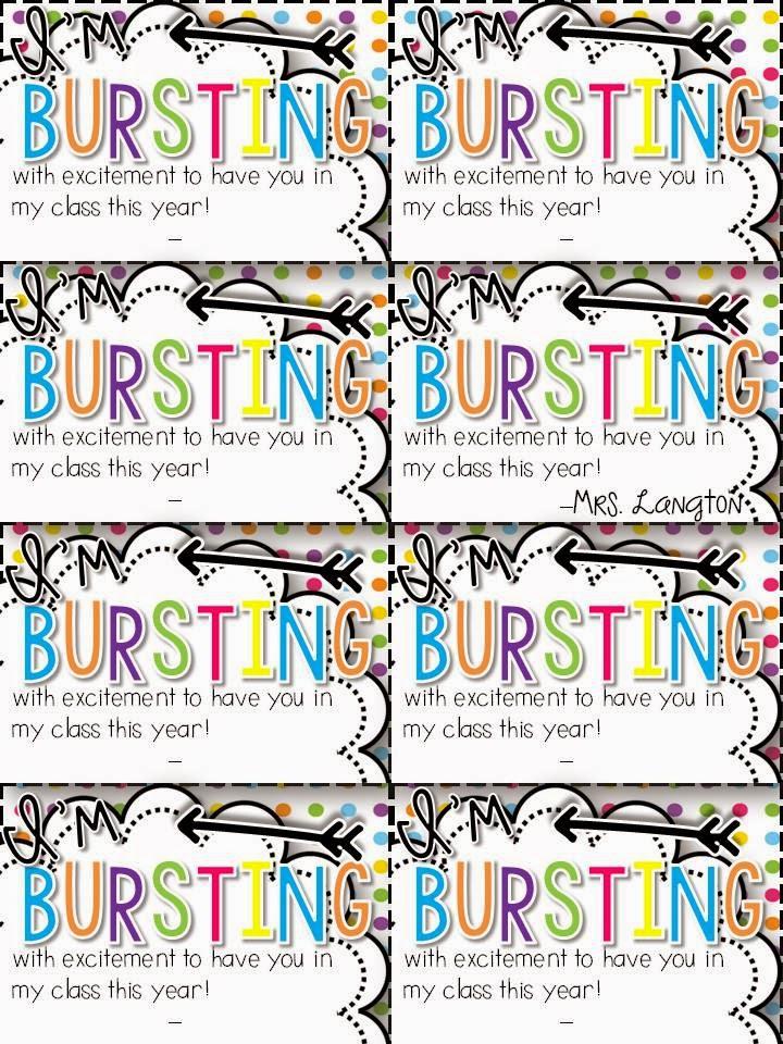 bursting student gift tags