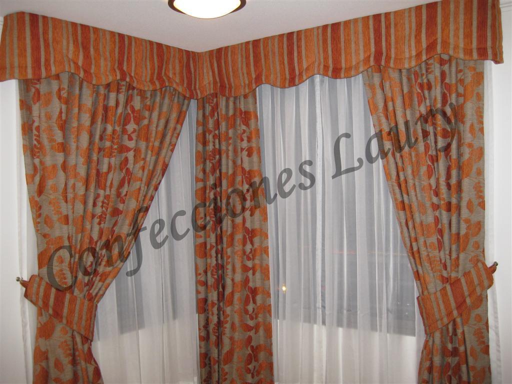 Cortinajes may laury cortinas para living y comedor for Cortinas para living