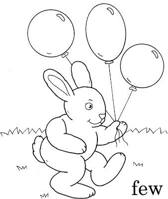 Line Drawing :: Clip Art :: Happy Rabbit