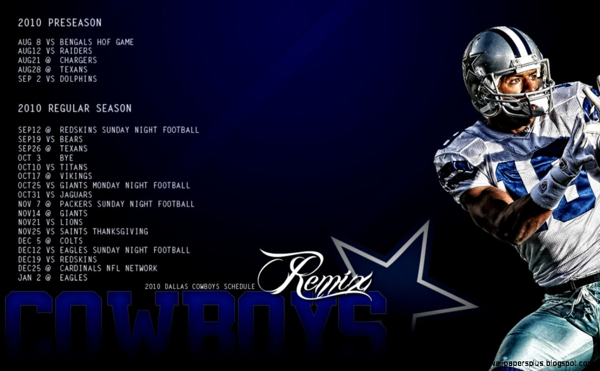 2010 Dallas Cowboys Schedule Wallpaper  Cowboysremix39s Blog