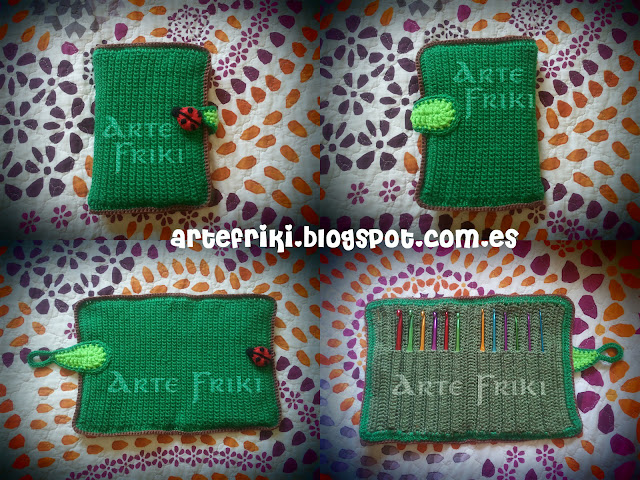 estuche guarda agujas crochet hook case ganchillo