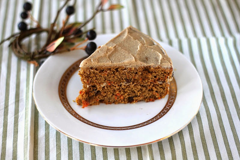 Healthy Whole Wheat Carrot Cake with Maple-Cinnamon Frosting
