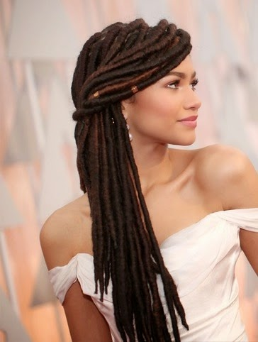 Zendaya Dreadlocks 2015 Oscars