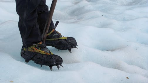 Tobias' boots and crampons