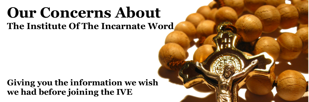 Concerns about the Institute of the Incarnate Word (IVE)