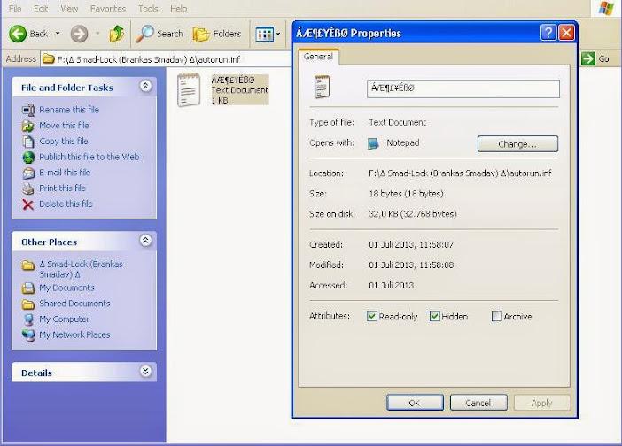 Mencegah File Autorun Dengan Cara Manual
