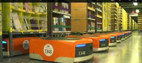 Amazon sus Almacenes tienen mas ROBOT que Humanos