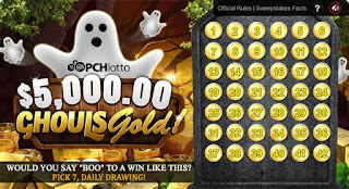 Ghouls Gold game from Publishers Clearing House Lotto
