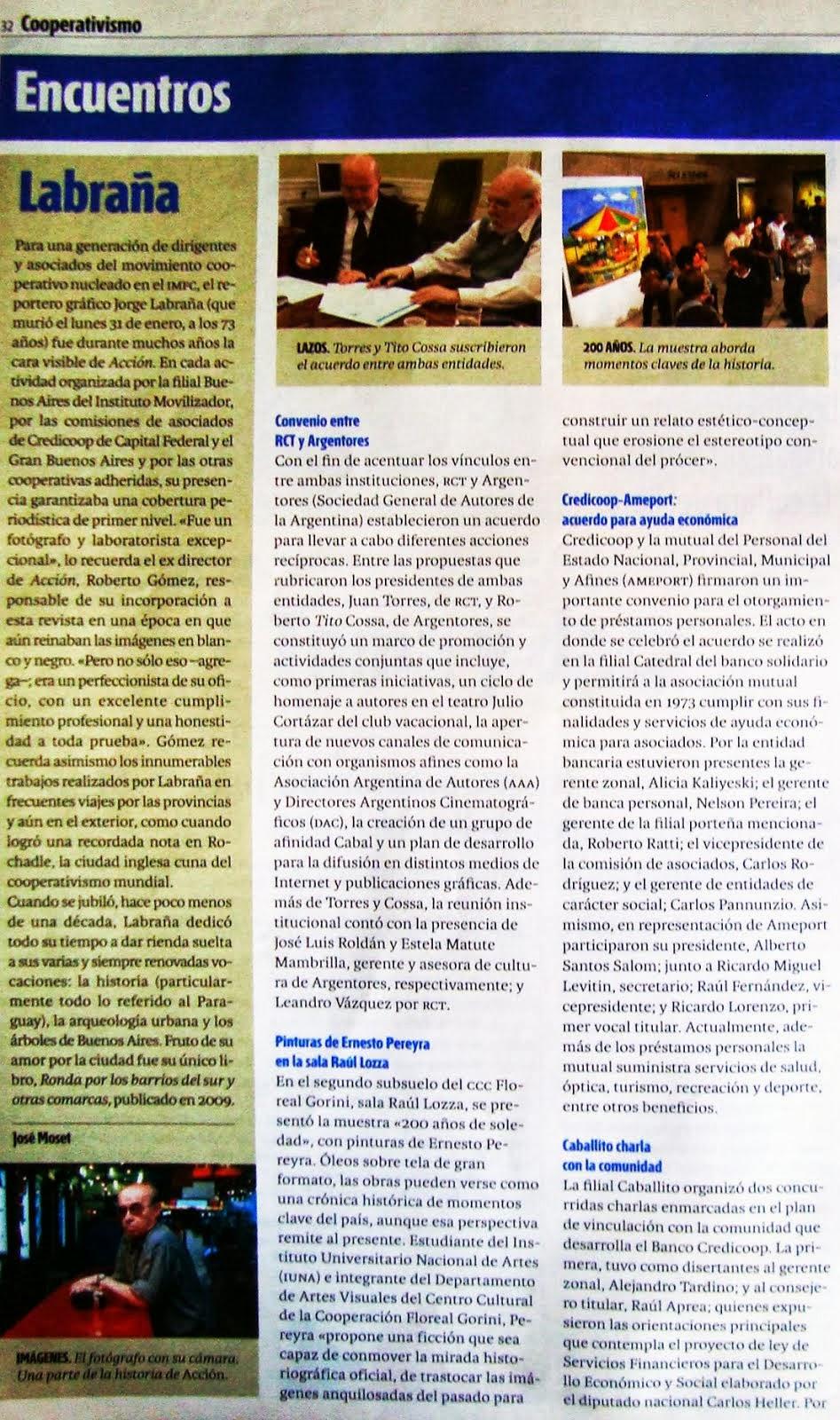 nota en Revista ACCIÓN