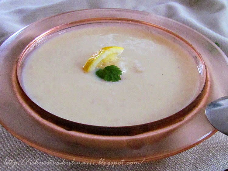 "Греческий суп ""Авголемоно"" (Αυγολέμονο, Avgolemono)"