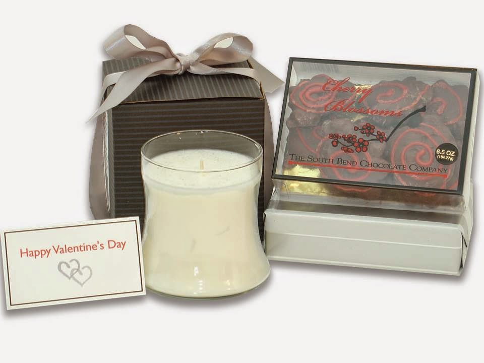 Elegant Candle and Chocolates Gift Set