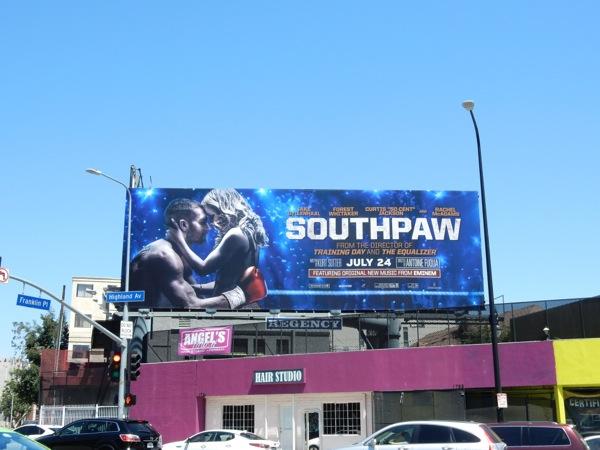 Southpaw film billboard