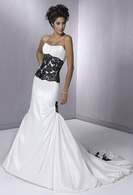 Чорно білі весільні сукні 2013