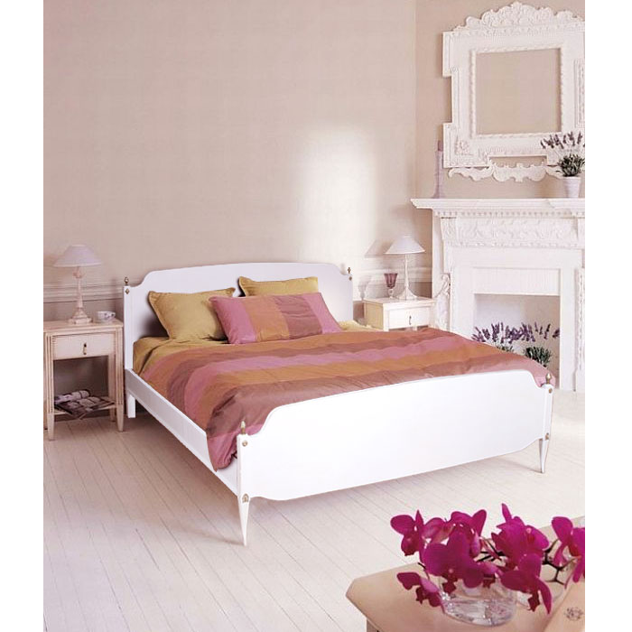 Mobili shabby chic atelier myartistic letto laccato for Letto shabby chic