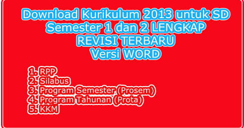 Download Rpp Silabus Kkm Prosem Prota Kurikulum 2013 Sd Kelas 1 2 4 5 Semester 1 Dan 2