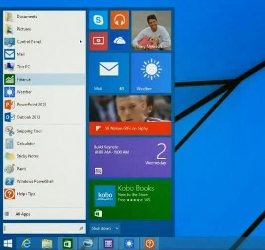 Windows 9 Menu