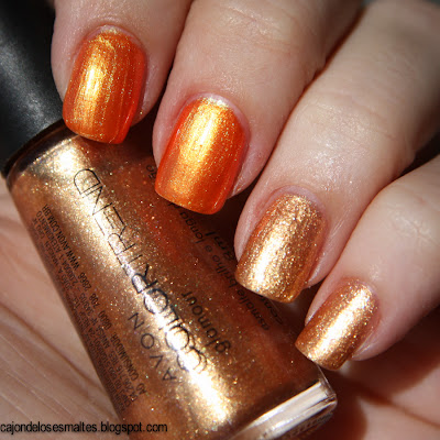 Avon Colortrend - Naranja Shine - Dorado Glamour Dorado Chic
