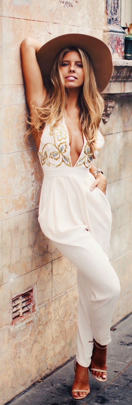 Alice McCall White Floral Print Details Jumpsuit by Natasha Oakley