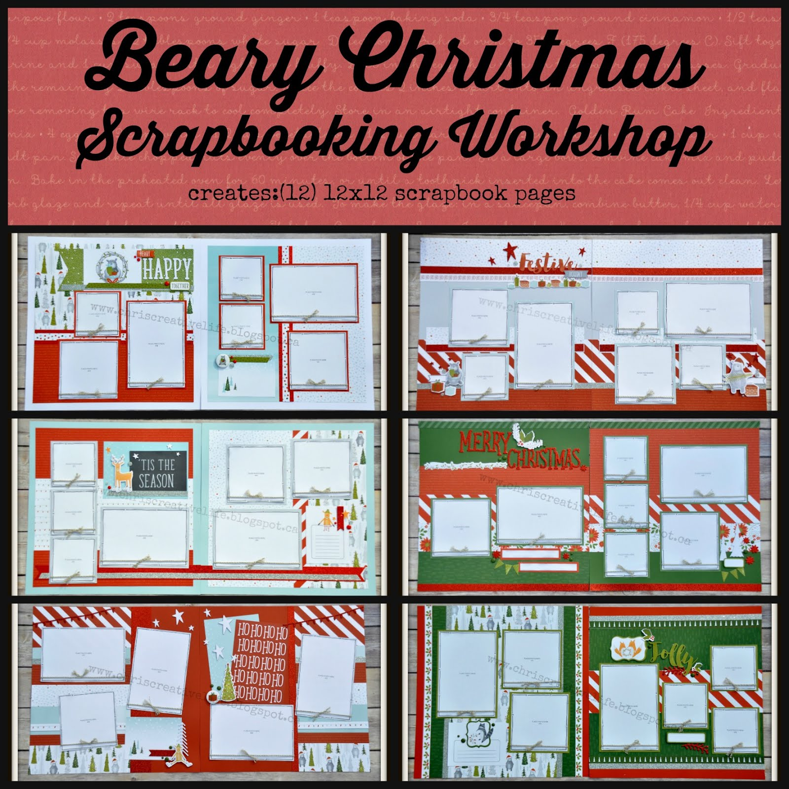 Beary Christmas Scrapbooking Workshop