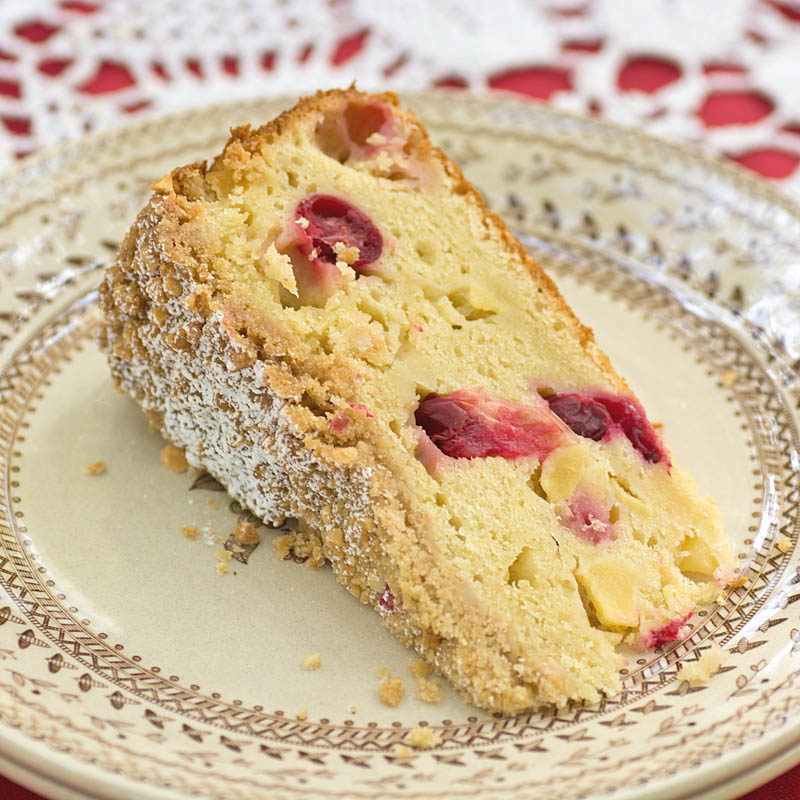 Apple-Cranberry Streusel Cake