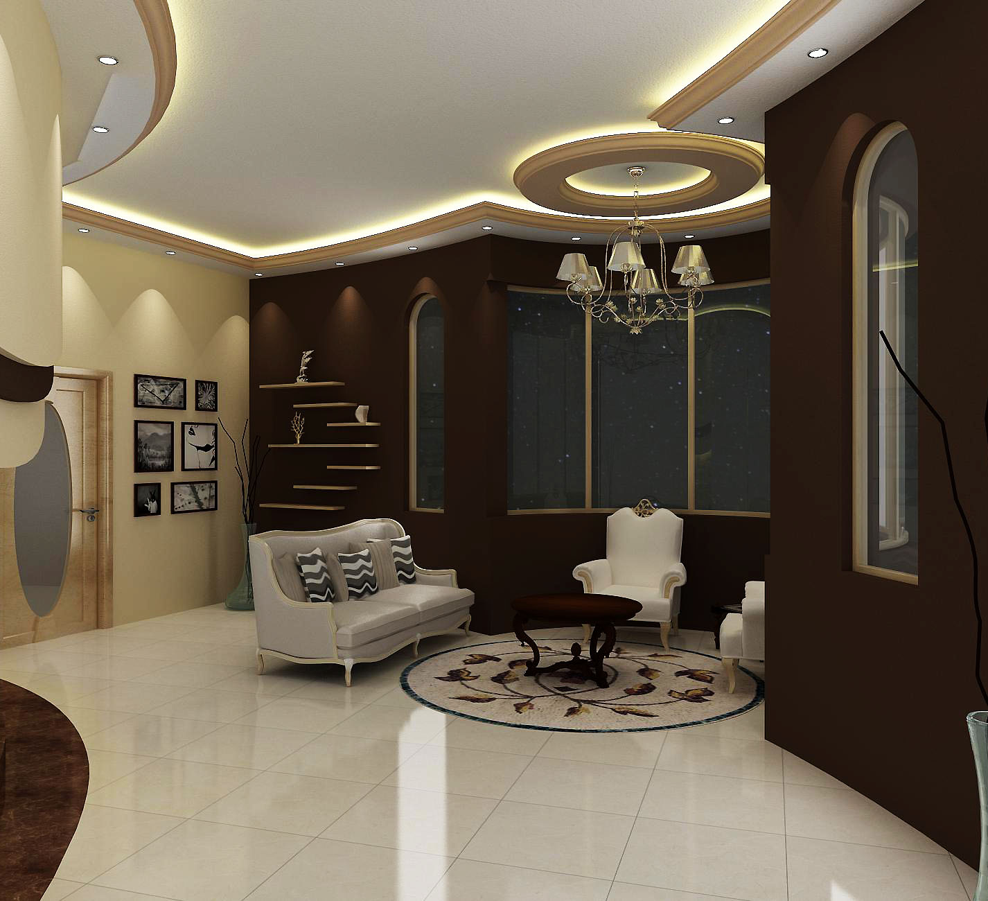 Wasim riaz interior design for a arabic mujlis for Arabic interiors decoration