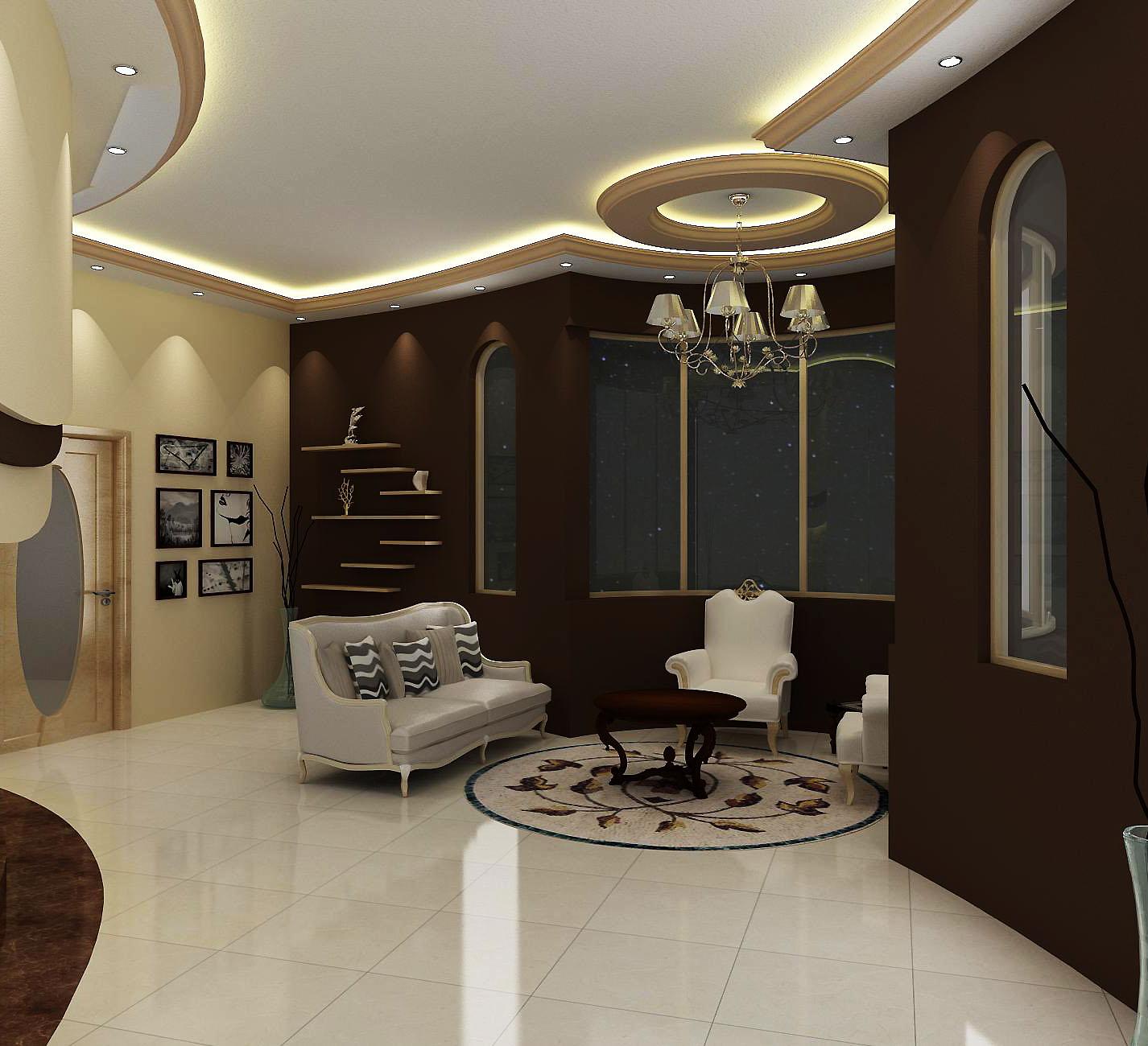Wasim riaz interior design for a arabic mujlis for Interior decoration vs interior design