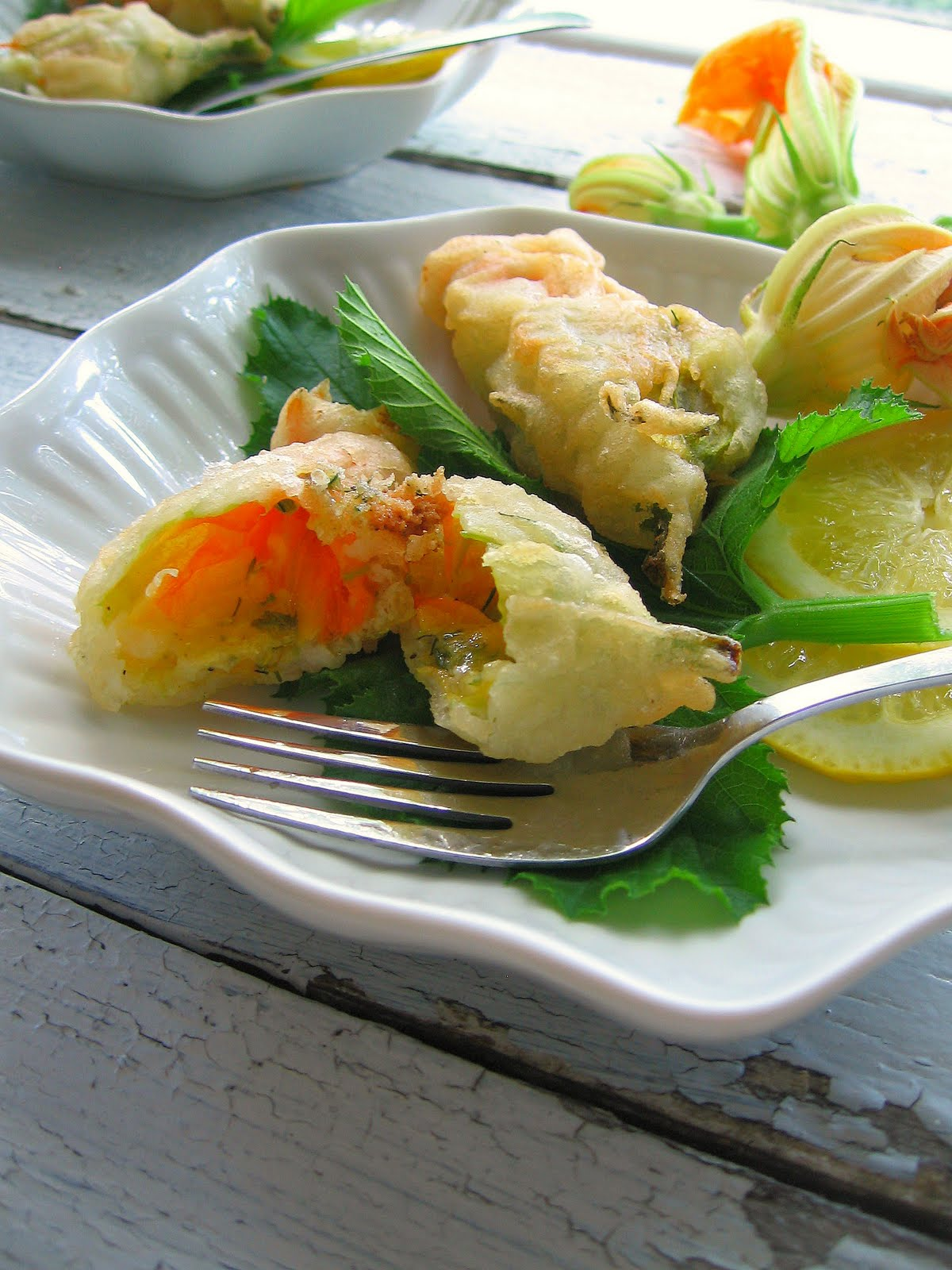 sweetsugarbean savouring summer zucchini flowers stuffed with