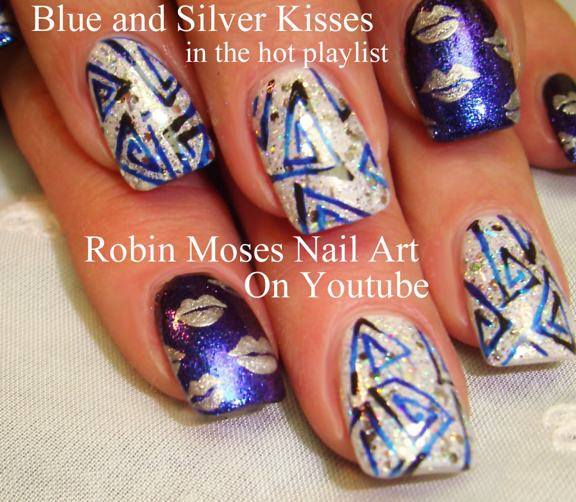 Robin moses nail art lip print kiss nails kiss nail art nail art tutorials diy easy hot nail designs hot nail art tutorials for beginners and up prinsesfo Images