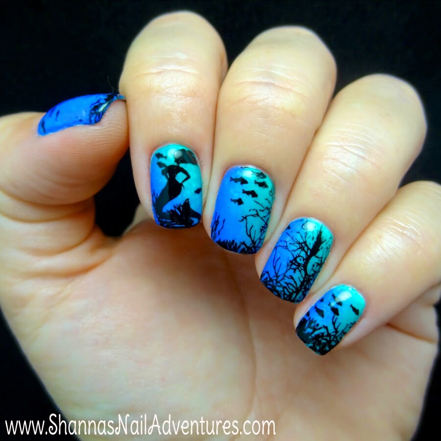 Shanna\'s Nail Adventures: Under the Sea manicure using Bundle ...