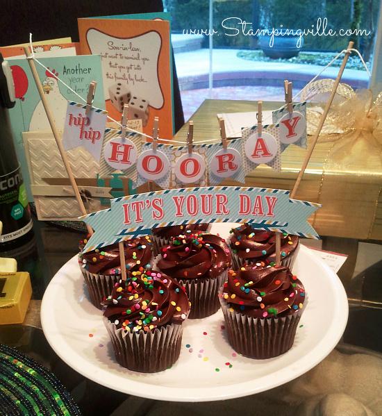 Birthday cake/cupcake banners
