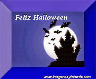 Feliz Halloween con Castillo y Murcielagos
