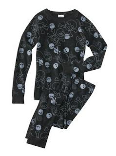 Style Athletics Cheeroke Target Skull Bones Thermal Pajamas PJs