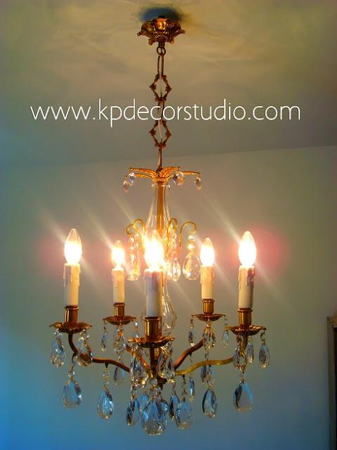 Lamparas chandelier restauradas funcionando y en buen estado. Lámparas electrificadas y alambrado nuevo