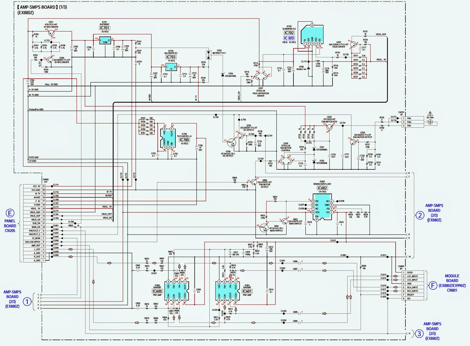 sony hcd-ex660z  ex880z  ex990z