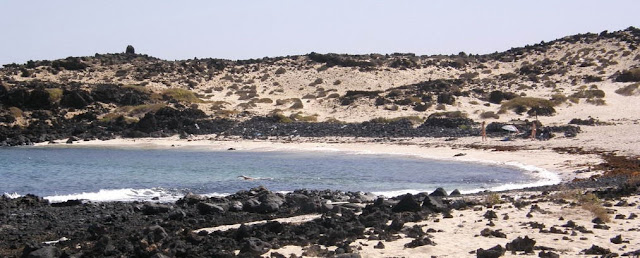 Nude beach Caleton Blanco (Lanzarote, Canary Islands)