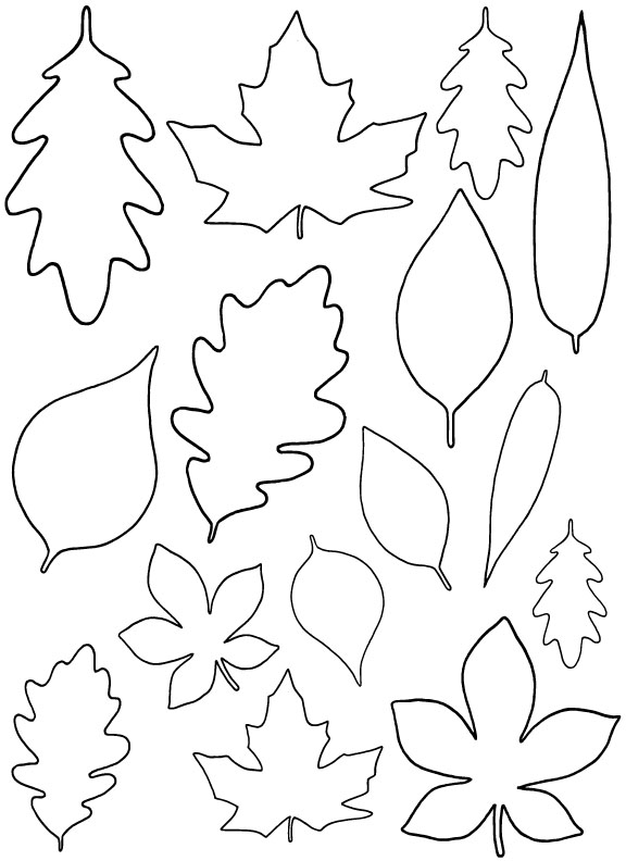 diy paper leaves free leaf template