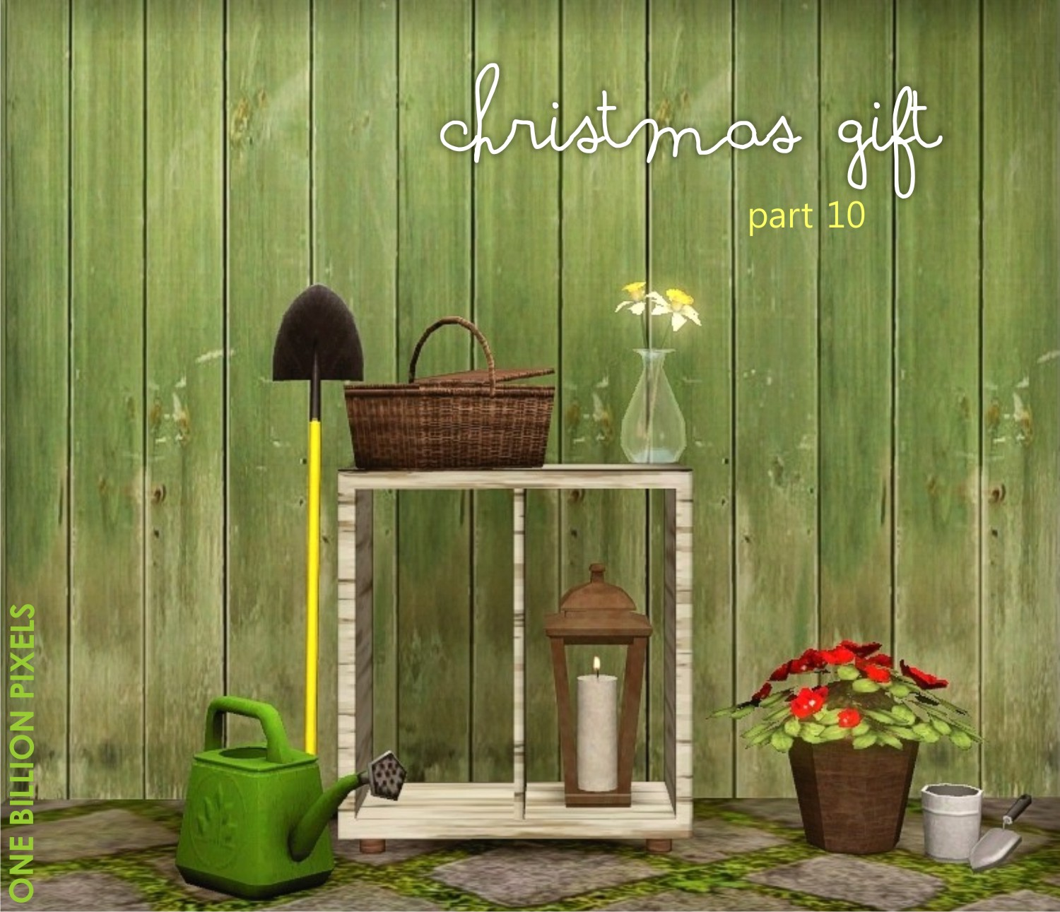 christmas gift part 10 gardening tools flowers shelves