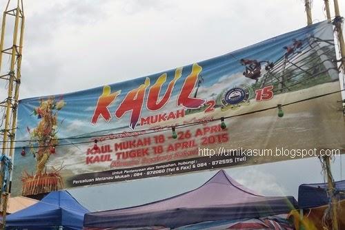 Gambar Pesta Kaul Mukah 2015 yang diadakan di Pantai Kaul Mukah, Sarawak. Perayaan masyarakat Melanau yang diadakan setiap tahun, banner iklan pesta kaul mukah