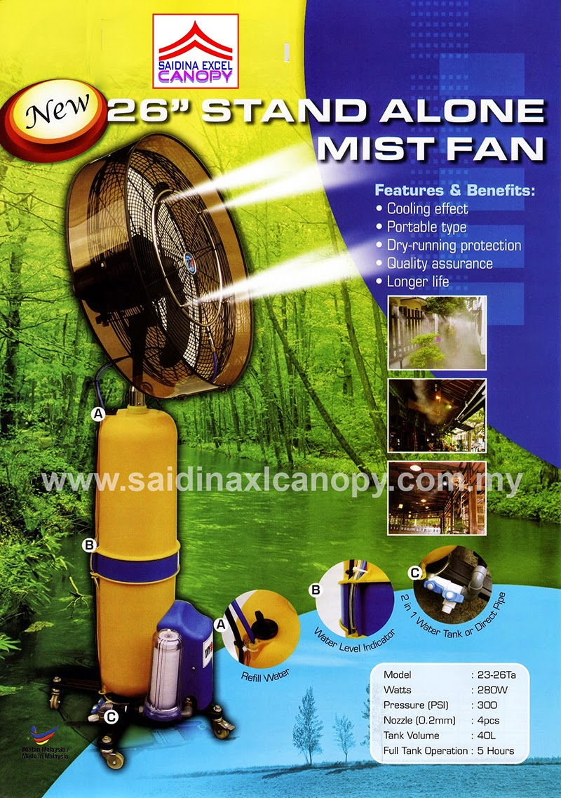 Mist Fan - Kipas Kabus (Berair)