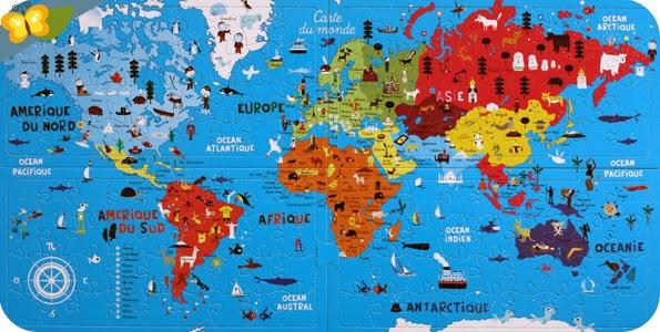 """""""Mon Atlas puzzle du monde"""" par les éditions De La Martinière Jeunesse"""