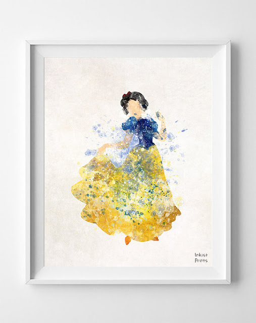Disney Snow White watercolor
