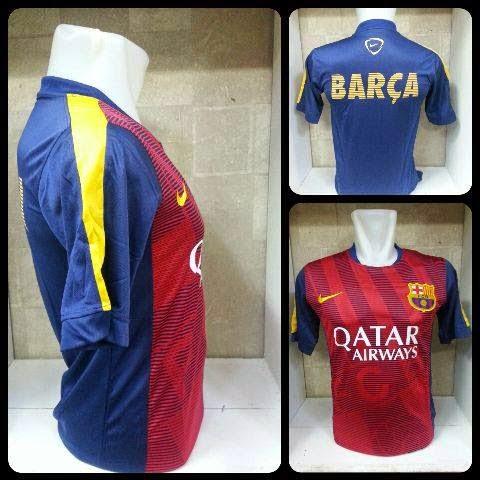 gambar bocoran Photo jersey Barcelona Pre-Match terbaru musim depan 2015/2016