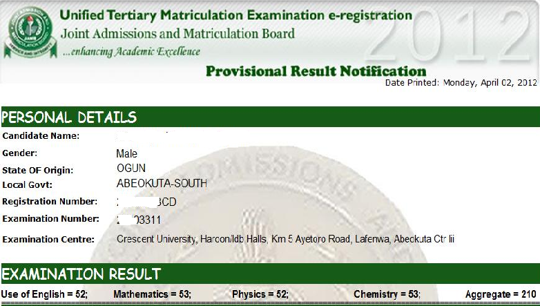 VicadeWorks.....: JAMB (UTME) 2015/2016 RESULT IS OUT
