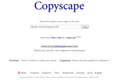Copyscape - Saiba quem copia seu conteúdo.