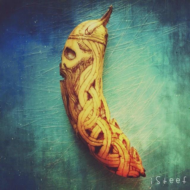 Caveira Vinking - Banana Art por Stephan Brusche