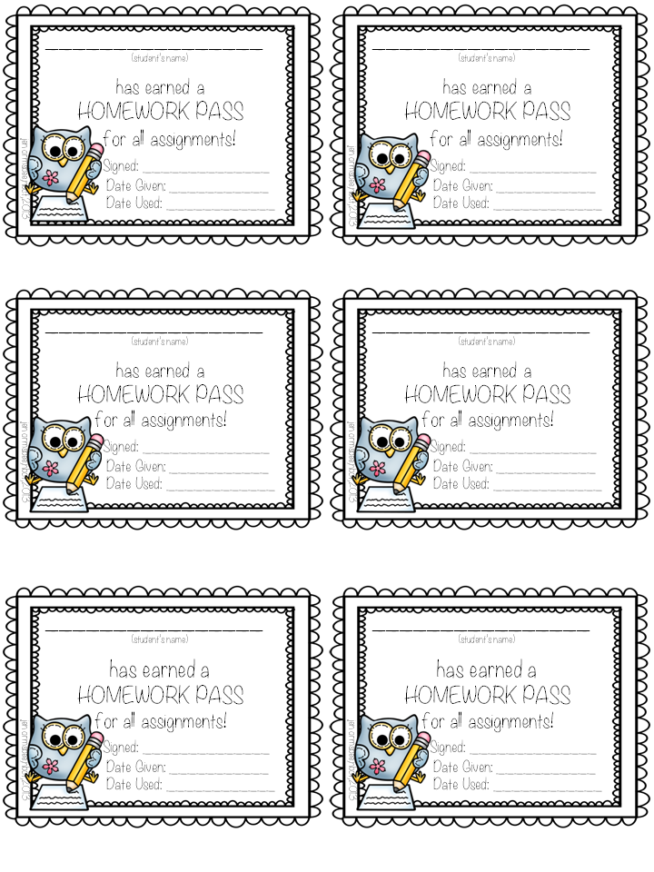 hall passes printable